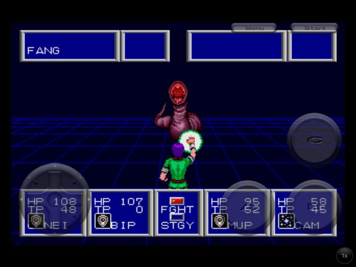 Phantasy Star II Fang Fight
