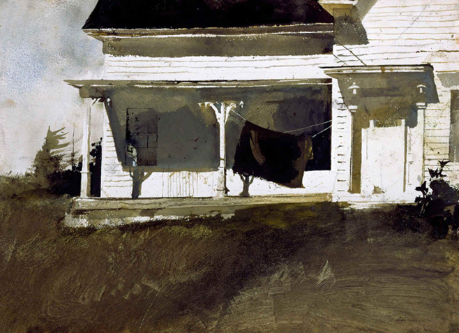 Army Blanket, by Andrew Wyeth
