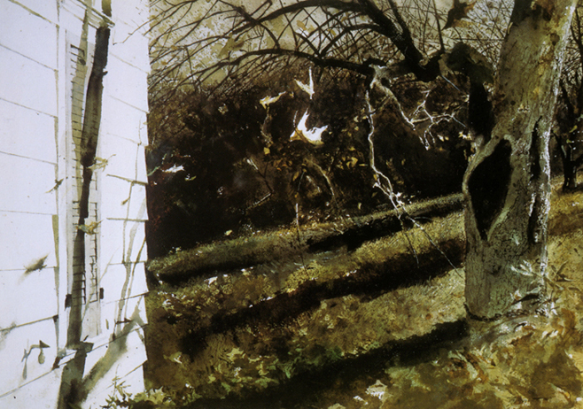 Blowing Leaves, by Andrew Wyeth