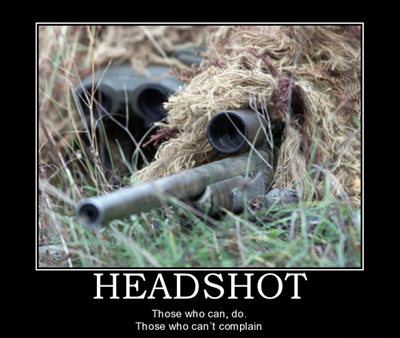 Headshot Motivational Poster