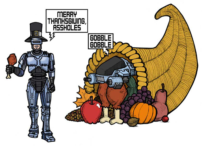 RoboCop Thanksgiving Greetings