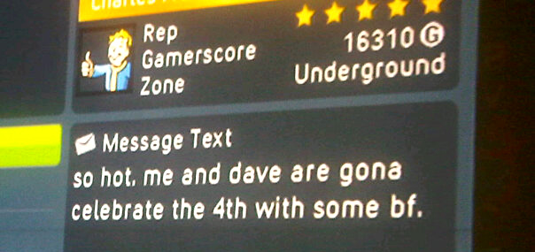 An Unfortunately Worded Xbox Live Message