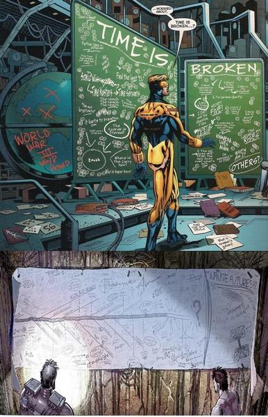Avengers and Rip Hunter Chalkboard