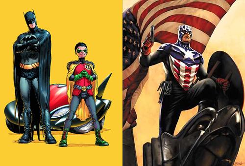 The New Batman and Robin and Captain America