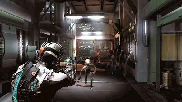 Dead Space 2 Hallway