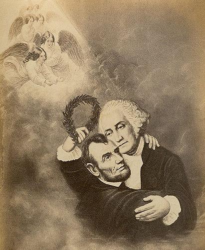 Lincoln and Washington in Heaven