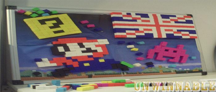 Pixel Blocks Mario and Union Jack