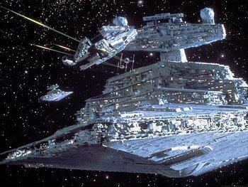 ESTB Falcon and Star Destroyer