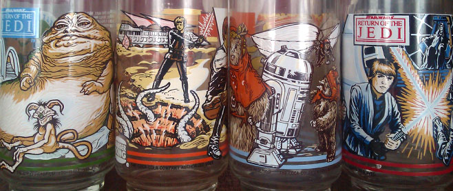 Burger King Return of the Jedi Glasses