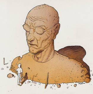 Moebius Statue