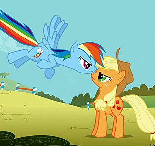 My Little Pony - Rainbow Dash and Applejack