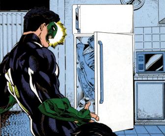 Woman in Refrigerator