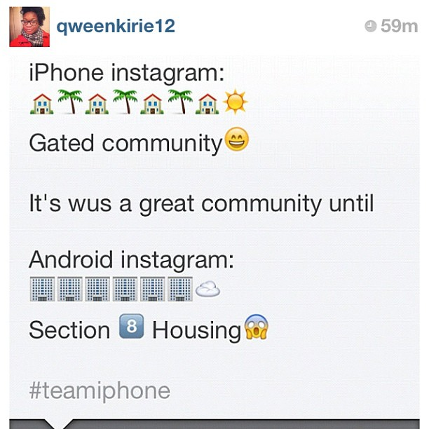 iPhone vs. Android Instagram