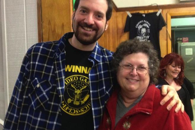 Matt Marrone and Mrs. Horvath