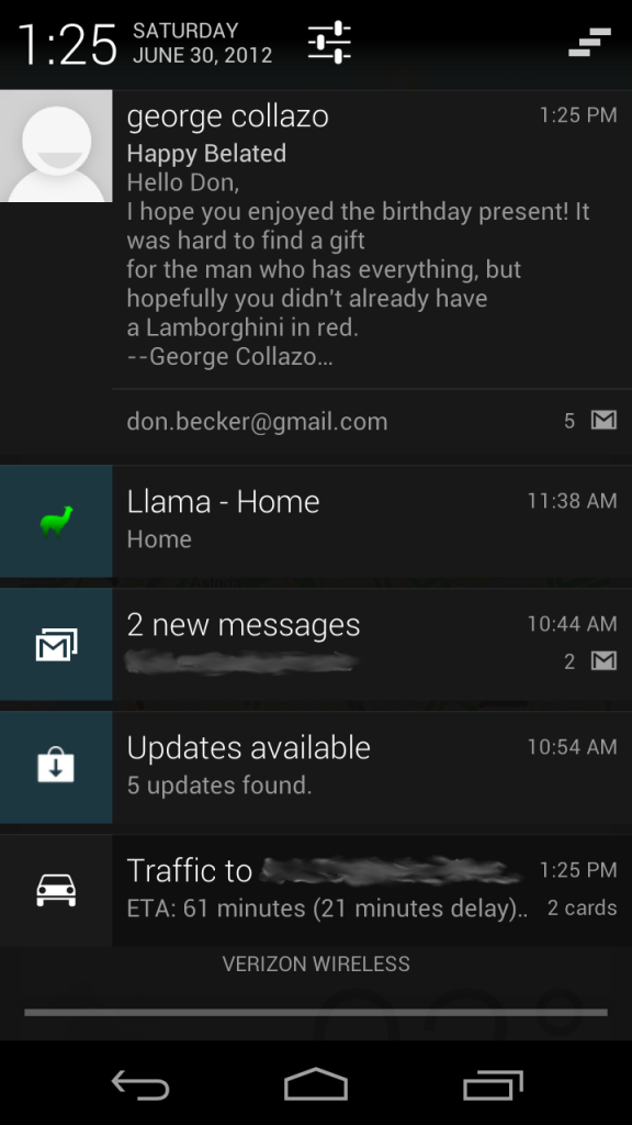 Android Jellybean Notifications