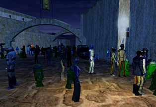 Star Wars Galaxies - crowd