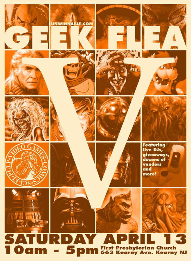 Geek Flea V flyer