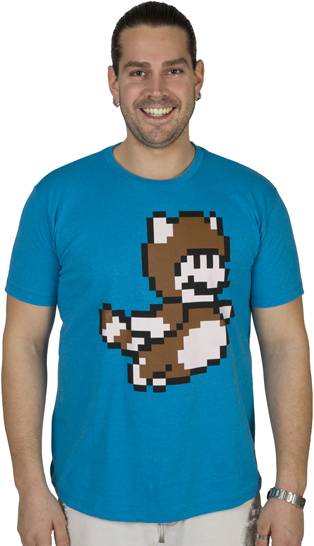 Pixel Tanooki Mario shirt