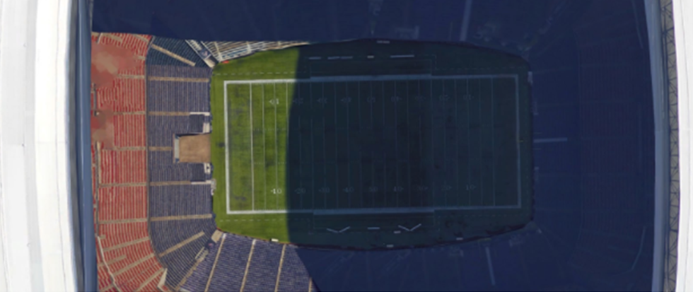 Screenshot of a Google Maps zoom of the NRG Stadium