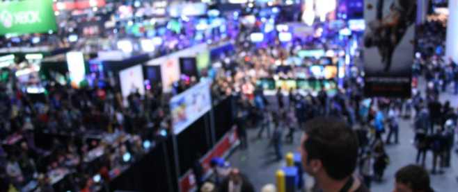 A slightly blurry photo of the PAX showroom.