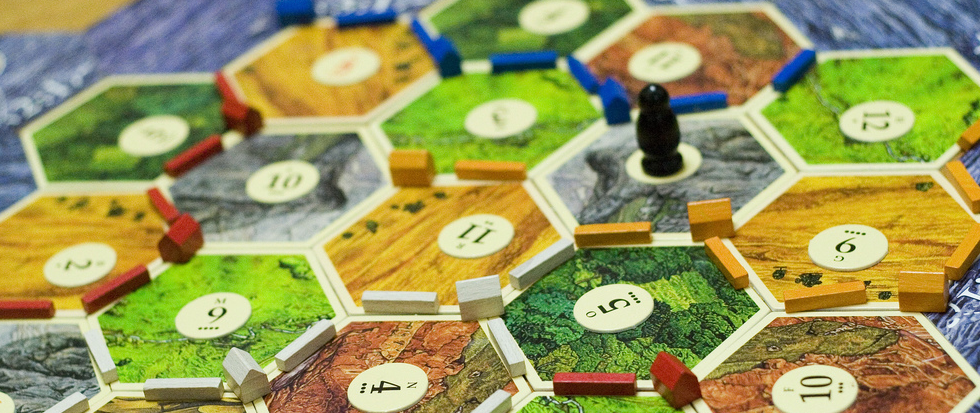 A board for Settlers of Catan.