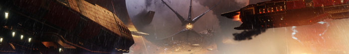A rich orange colored background with a floating spiked creature. This is a still from Destiny 2.