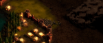 A small castle surrounded by green farmland. This is a screenshot from the game They Are Billions, originally taken by Steam User Killer Rabbit