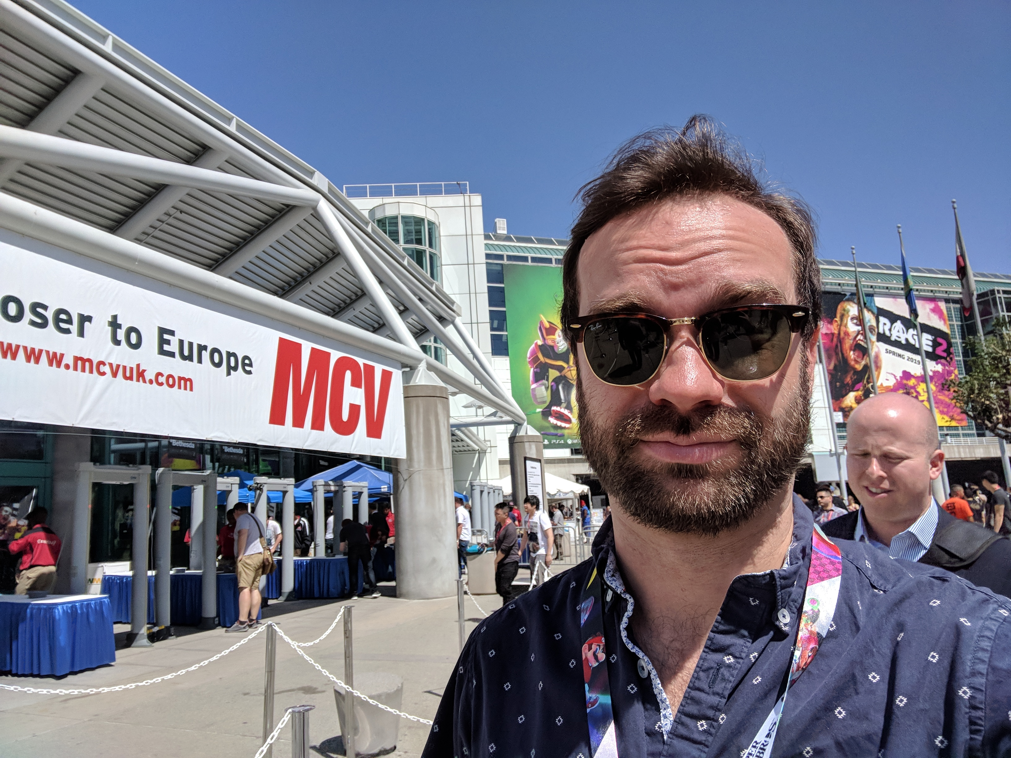 Davis Cox stands outside E3 2018.