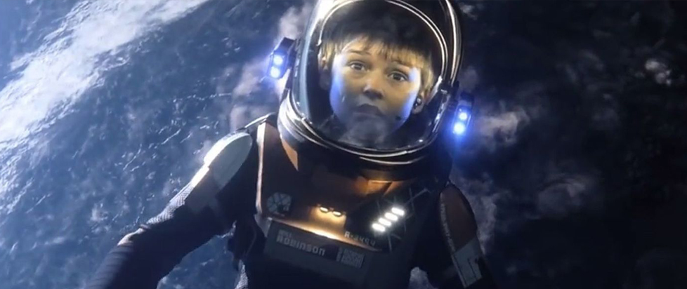 A scene from the Lost in Space remake.