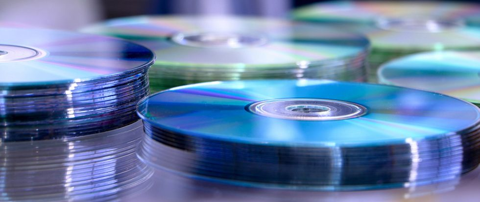 a set of stacks of mixed cds