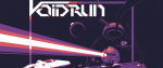 voidrun image with a pixelated purple spaceship and laser beam
