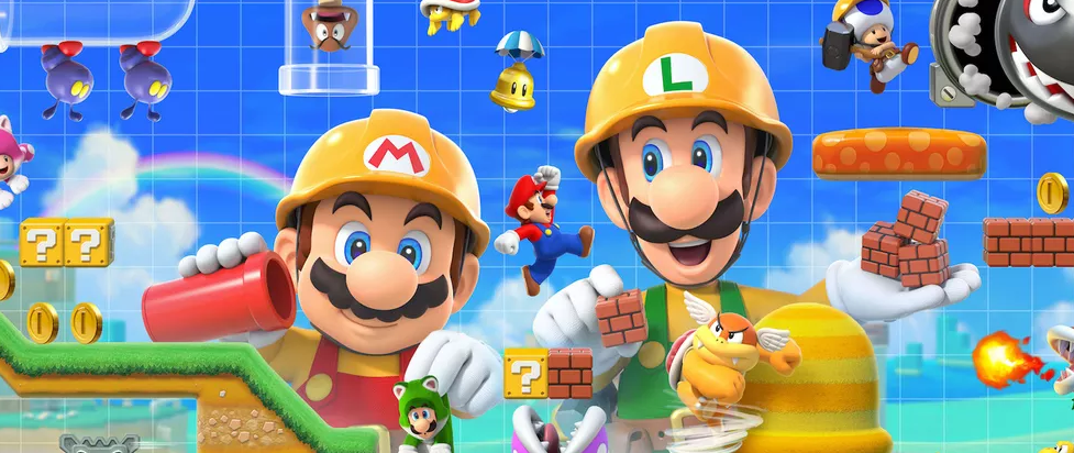 Mario and luiji in builders hats