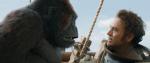 Robert Downey Jr facing a gorilla.