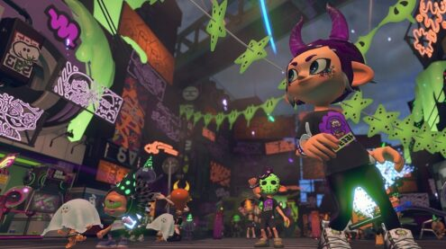 Inklings having a Halloween celebration with costumes.
