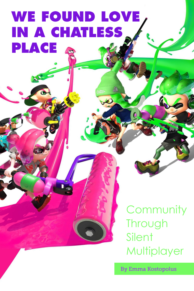 Opposing groups of Inklings about to engage in battle.