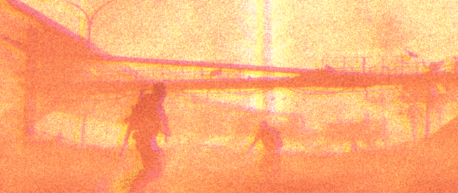 a filtered and pixelated image of spec ops the line