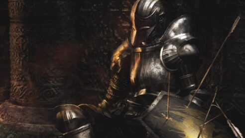 Demons Soul's image, a person in a suit of armor.