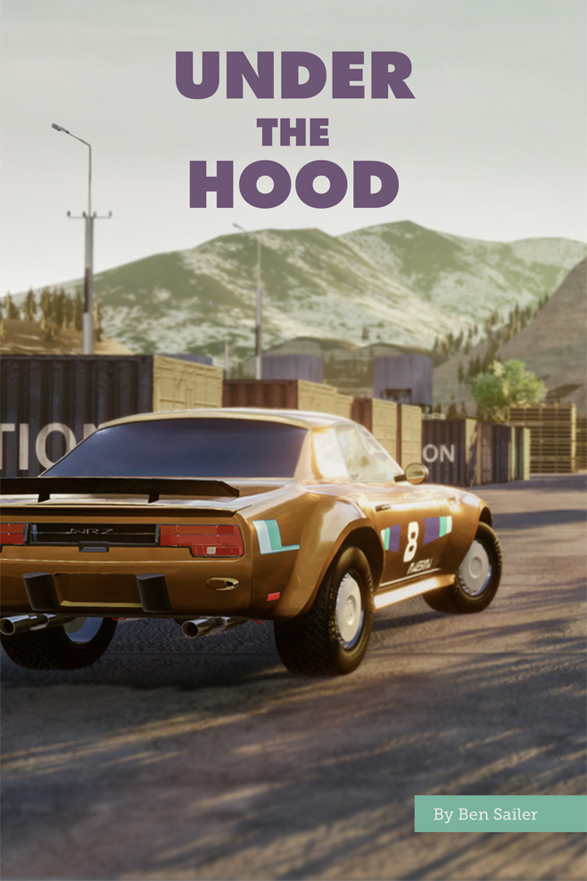 Under the Hood: An orange sportscar from the game Under the Hood