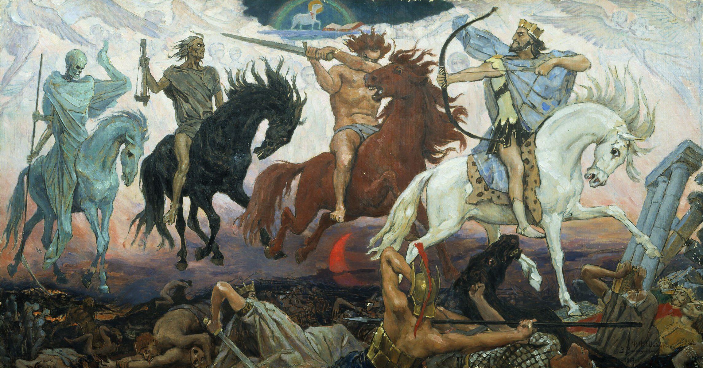 A painting of the Four Horsemen of the Apocalypse