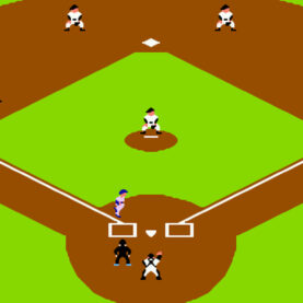 An overheard shot of Bases Loaded