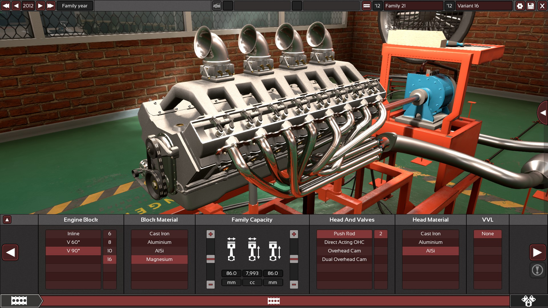 An engine being designed in the game Automation