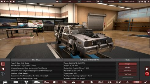 A heavily modified DeLorean lookalike from the game Automation.