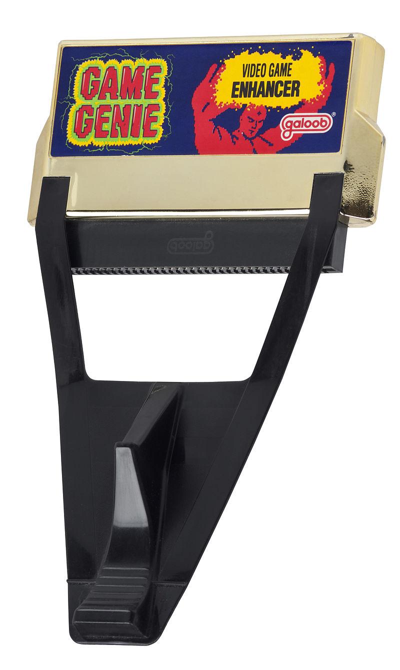 """A picture of a Game Genie """"video game enhancer."""""""