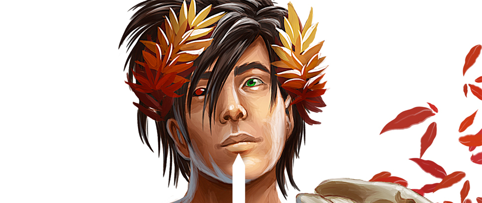 A close up of Zagreus from Hades.