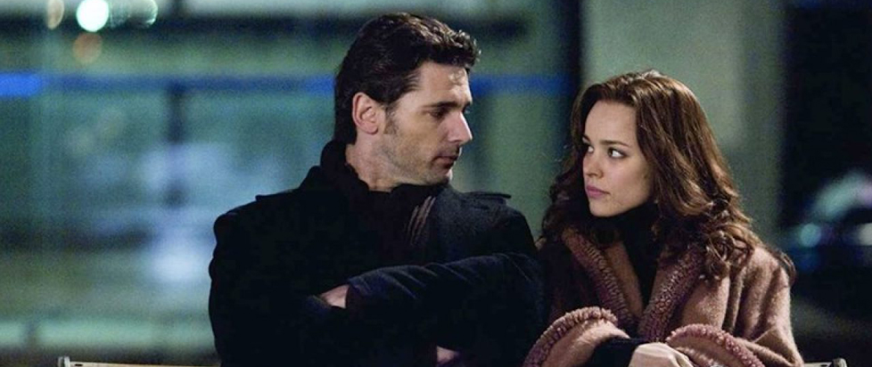 Rachel McAdams and Eric Bana look at each other from the movie The Time Traveler's Wife.