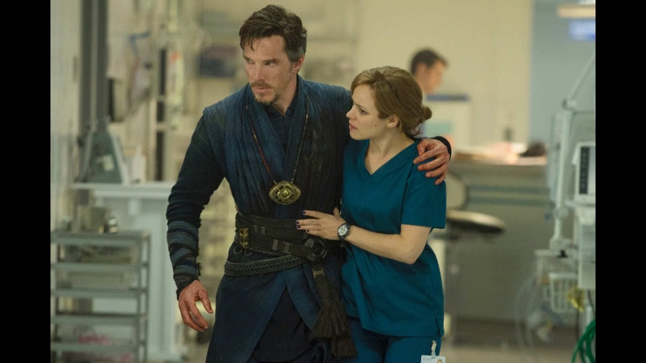 Rachel McAdams with a Doctor Strange.