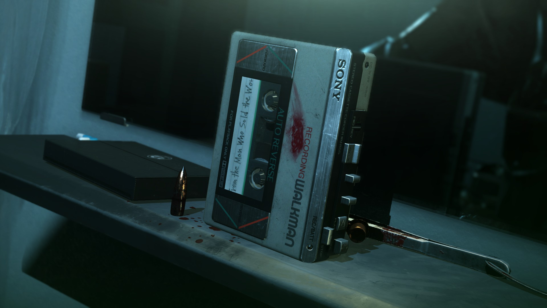 A cassette player with the Man Who Sold the World tape inside.