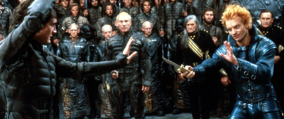 Performers from the David Lynch Dune movie, specifically Sting and Patrick Stewart are visible.